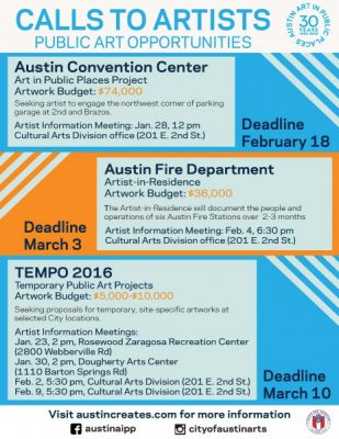 Request for Proposals: TEMPO 2016 Temporary Public Art Project