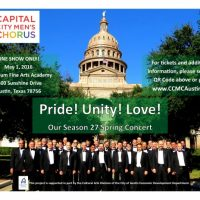 Capital City Men's Chorus present their Spring Concert: Pride! Unity! Love!
