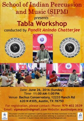 Tabla Workshop conducted by Pandit Anindo Chatterjee