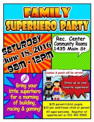 Family Superhero Party