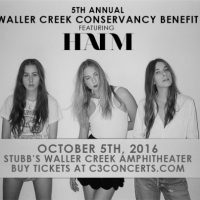 Waller Creek Conservancy's Fifth Annual Benefit Concert Featuring HAIM