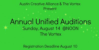 Annual Unified Auditions - calling all actors!