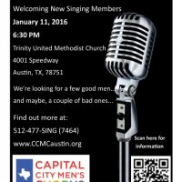 Open Auditions for the Capital City Men's Chorus