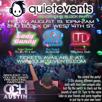 FREE Quiet Clubbing Block Party in Austin