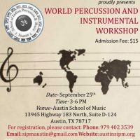 World Percussion & Instrumental Workshop