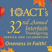 Interfaith Thanksgiving Service & Celebration