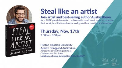 Steal Like An Artist: A Panel Discussion with Austin Kleon