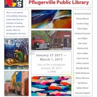 Creative Arts Society Exhibit at the Pflugerville Library