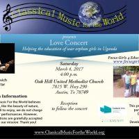 CMFW Love Concert with Classical Guitarist Michael Gratovich