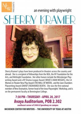 An Evening with Playwright Sherry Kramer