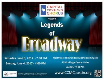 The Capital City Men's Chorus presents Legends of Broadway